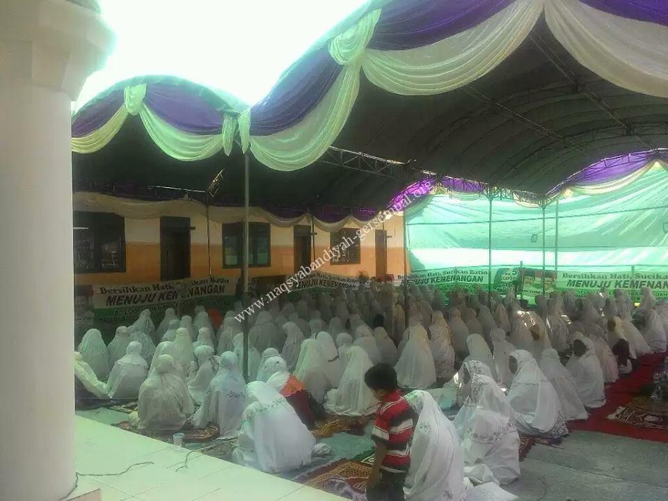 Akhowat Naqsyabandiyah Gersempal untuk wilayah Camplong, mengikuti kegiatan SITQON Sampang