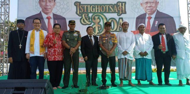 POLRESTABES Surabaya gelar Istighotsah dan Parade merah putih